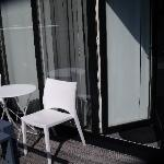 Entrance with small balcony