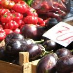 Auberginen und Paprika