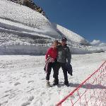 sur le glacier de la Grande Motte
