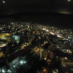 Night view from revolving restaurant at top of Ritz Hotel