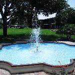 Fountain beside reception
