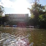Renting canoes or paddle boats