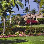 Sprawling, low rise buildings leading through lush landscaped grounds to the beautiful beach