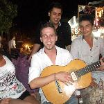 Emrah (one of the waiters) trying to play guitar :)