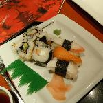 Yummy sushi at the Japanese rest
