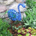 loved the peacock ornament in the garden