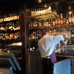 Danny the bartender in the Bacchus Lounge
