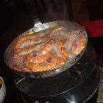 Cooking fresh prawns