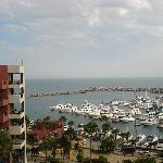 View of the marina from our balcony
