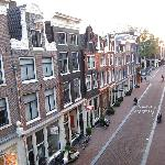 The view of Herenstraat from our apartment