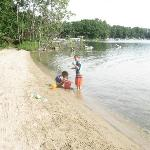 Small beach, but provides plenty of entertainment for the kids.