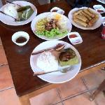 spring rolls, fish amok and beef loklak for two!