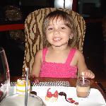Camilla having dessert...