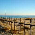 Dune séparant lagune & plage de Cabanas