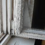 Fensterrahmen in unserem Zimmer