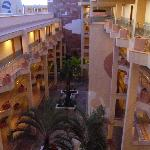 View of hotel from roof