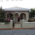 The front of the guest house