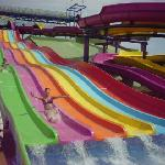 Some of the slides at the waterpark!