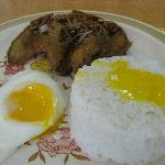 danggit and egg for breakfast