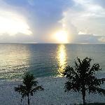 La spiaggia vista dalla camera