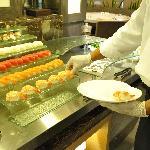 salmon, tuna, sushi and maki