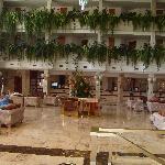 Vulcano Hotel reception area.