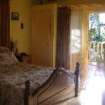 Main bedroom with veranda door open