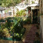 Entrance through the garden & patio