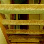 """We lovingly called these the """"stairs of doom"""" knowing full well one of our little ones could sli"""