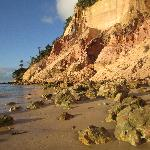 Private beach near pousada