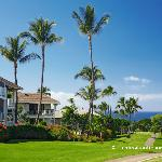 Low Rise Buildings of Wailea Grand Champions Cascading Along the Wailea Blue Golf Course Towards
