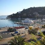 View from the room on Porto Santo Stefano- Hotel Alfiero