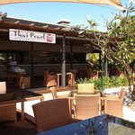 Thai Pearl - outdoor seating next to hotel pool