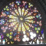 huge stained glass window
