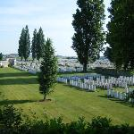 Tyne Cot cemetery from balcony