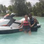 Posing with our jet ski