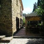 'Rustic' main entrance & patio