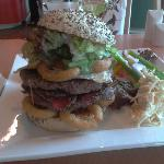 the Pastrami and egg burger wow