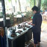 Frsiche Zubereitung von Tiger Prawns
