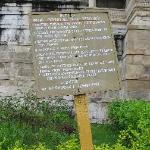sign with the rules for visitors
