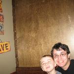 Justin & Sean inside pigman's bbq
