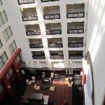 view of lobby from 17th floor