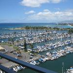 View from lanai on 16th floor condo