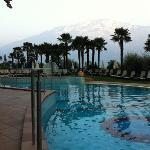 Una delle piscine immersa tra le palme