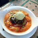 soupe d'abricot pistache