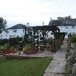 The back garden and view of the Inn