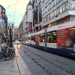 modern street tram