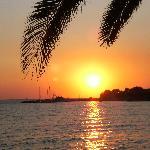 Sunset from beach-side taverna, Molyvos