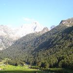 La vista sulla valle
