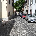 Une rue dans la vieille ville de Funchal